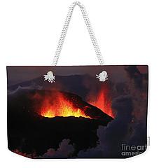 Volcanic Eruptions Weekender Tote Bag by Gunnar Orn Arnason