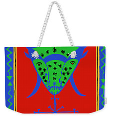 Weekender Tote Bag featuring the digital art Voodoo Bosou by Vagabond Folk Art - Virginia Vivier
