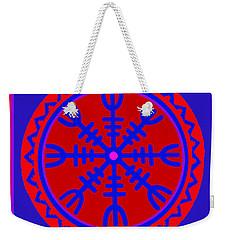 Weekender Tote Bag featuring the digital art Voodoo Helm Of Awe by Vagabond Folk Art - Virginia Vivier