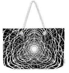 Weekender Tote Bag featuring the drawing Vortex Equilibrium by Derek Gedney