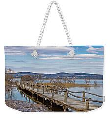 Vransko Lake Nature Park Bird Observatory Weekender Tote Bag by Brch Photography