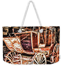 Weekender Tote Bag featuring the painting Wagon by Muhie Kanawati