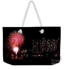 Waikiki Fireworks Weekender Tote Bag