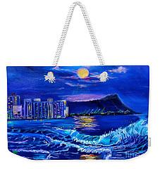 Waikiki Lights Weekender Tote Bag