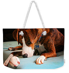 Weekender Tote Bag featuring the photograph Wait For It      Wait For It by Robert McCubbin