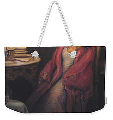 Weekender Tote Bag featuring the painting Waiting by Donna Tucker
