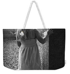 Weekender Tote Bag featuring the photograph Waiting For The Rain To End  by Lucinda Walter