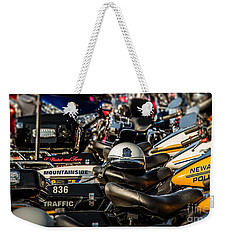 Weekender Tote Bag featuring the photograph Waiting For The Rider by Eleanor Abramson