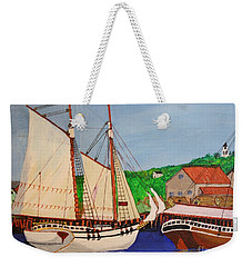 Waiting For The Salt Weekender Tote Bag by Bill Hubbard