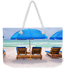 Weekender Tote Bag featuring the photograph Panama City Beach Digital Painting by Vizual Studio