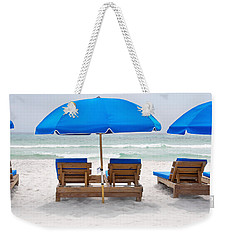 Weekender Tote Bag featuring the photograph Panama City Beach Florida Empty Chairs by Vizual Studio