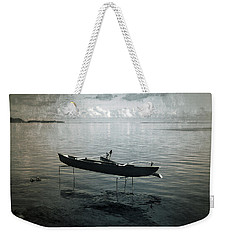 Weekender Tote Bag featuring the photograph Waiting In Blue by Lucinda Walter