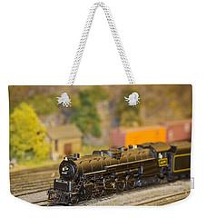 Waiting Model Train  Weekender Tote Bag by Patrice Zinck