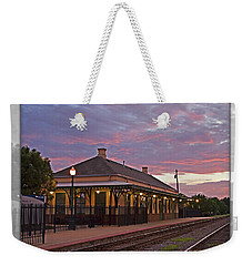 Waiting On The Train Weekender Tote Bag