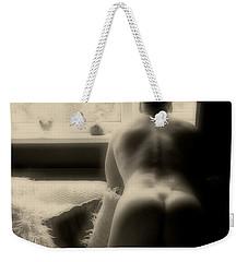 Waiting - The Nude Man In Shadow Weekender Tote Bag