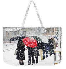Waiting The Train Weekender Tote Bag