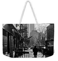 Walk Manhattan 1980s Weekender Tote Bag by Gary Eason