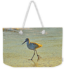 Weekender Tote Bag featuring the photograph Walk On The Beach by Cynthia Guinn