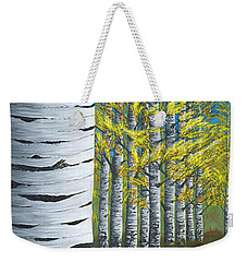 Walk Through Aspens Triptych 1 Weekender Tote Bag