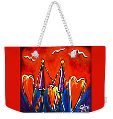 Walk With Me Weekender Tote Bag by Jackie Carpenter