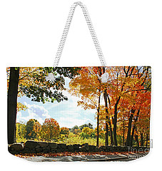 Walking Down Lyman Street Weekender Tote Bag by Rita Brown