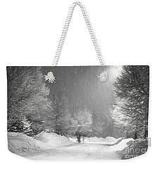 Winter Walk Weekender Tote Bag by Les Palenik
