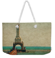 Walking On The Breakwater Weekender Tote Bag