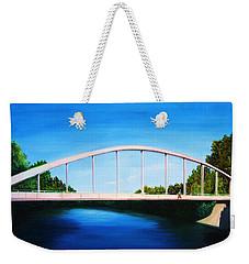 Walking On The Bridge  Weekender Tote Bag