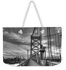 Walking To Philadelphia Weekender Tote Bag