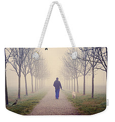 Walking With The Dog Weekender Tote Bag