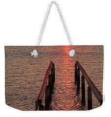 Weekender Tote Bag featuring the photograph Walkway To The Sun by Alan Socolik