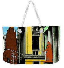 New York Pop Art - Blue Green Red Yellow Weekender Tote Bag by Art America Gallery Peter Potter