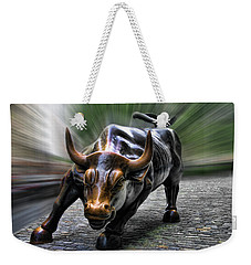 Wall Street Bull Weekender Tote Bag by Wes and Dotty Weber