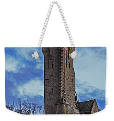 Wallace Monument During Sunset Weekender Tote Bag