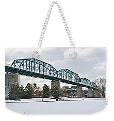 Walnut Street Bridge In The Snow Weekender Tote Bag