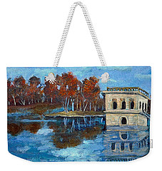 Waltham Reservoir Weekender Tote Bag by Rita Brown