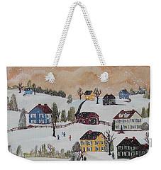 Waltzing Snow Weekender Tote Bag