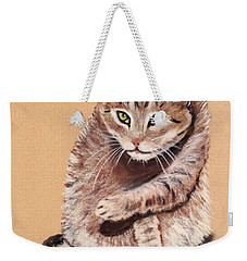 Weekender Tote Bag featuring the painting Want To Play by Anastasiya Malakhova
