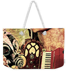 Weekender Tote Bag featuring the mixed media War Dreams by Ally  White