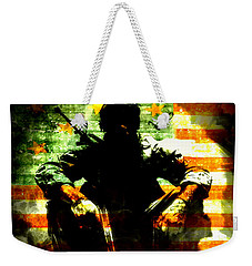 Weekender Tote Bag featuring the painting War Is Hell by Brian Reaves