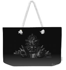 Weekender Tote Bag featuring the sculpture Warlord by R Muirhead Art