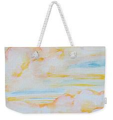 Warm Clouds Weekender Tote Bag by Heather  Hiland