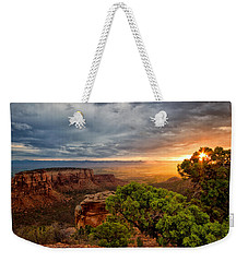 Warm Glow On The Monument Weekender Tote Bag