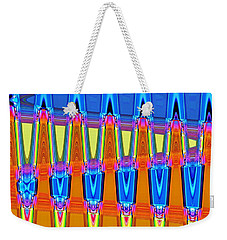 Weekender Tote Bag featuring the digital art Warp Seven by Ludwig Keck