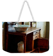 Wash Basin And Towel Weekender Tote Bag