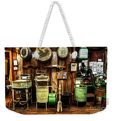 Washing Machines Of Yesteryear Weekender Tote Bag by Kaye Menner