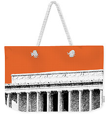 Washington Dc Skyline Lincoln Memorial - Coral Weekender Tote Bag