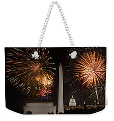 Washington Fireworks Weekender Tote Bag