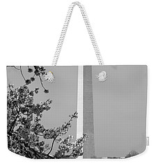 Washington Monument And Cherry Blossoms In April Weekender Tote Bag