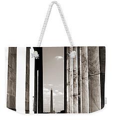Washington Monument Weekender Tote Bag by Angela DeFrias